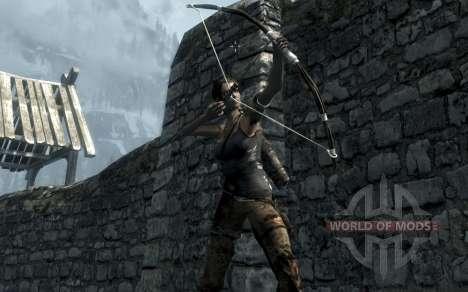 Kleidung und Waffen von Lara Croft für das dritte Skyrim-Screenshot