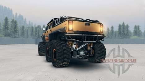 Hummer H2 SUT 6x6 pour Spin Tires