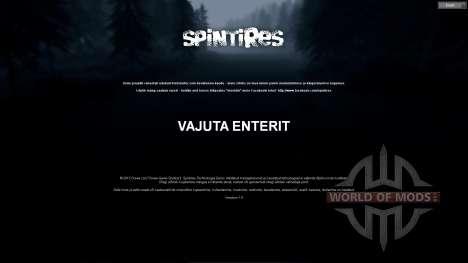 Estnische übersetzung für Spin Tires