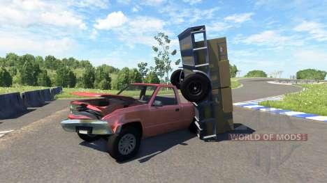 Camionnette avec remorque pour BeamNG Drive
