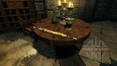 Le port de parchemins pour le quatrième Skyrim écran