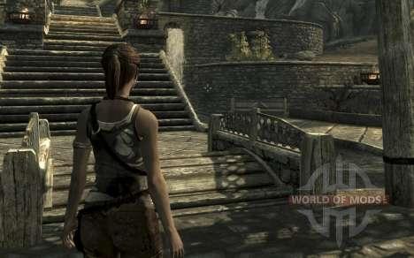 Kleidung und Waffen von Lara Croft für Skyrim zweiten Screenshot