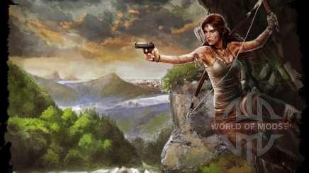 Les vêtements et les armes de Lara Croft pour Skyrim