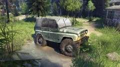 УАЗ-469 de Camion de Monstre pour Spin Tires