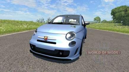 Fiat 500 Abarth Blue für BeamNG Drive
