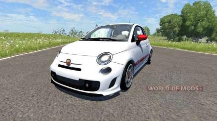 Fiat 500 Abarth White für BeamNG Drive