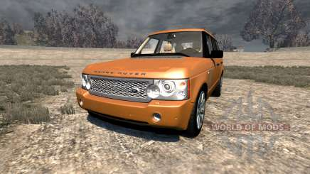 Range Rover Supercharged 2008 [Orange] für BeamNG Drive