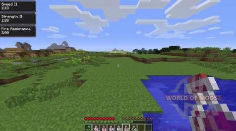 Les effets du caractère sur l'écran pour Minecraft