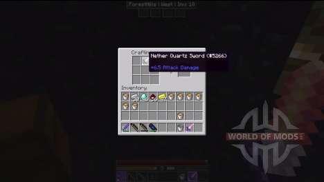 Des outils en obsidienne et de quartz pour Minecraft