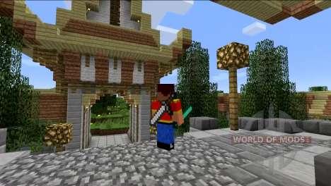Instrumente auf der Rückseite für Minecraft
