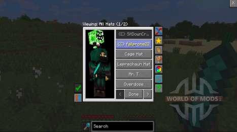 Kopfbedeckungen für Minecraft