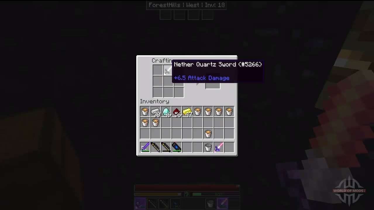 Des outils en obsidienne et de quartz pour minecraft - Minecraft outils ...