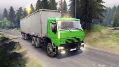 KamAZ-6522 en couleur verte pour Spin Tires