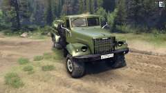KrAZ-255B AC 8.5 Inflammable pour Spin Tires