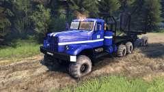 KrAZ-255B in der Farbe blau-KrAZ-Power-8- für Spin Tires