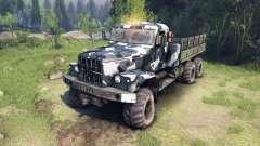 KrAZ-255 camo v3 für Spin Tires