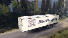 Semi-Remorque Sovtransavto pour Spin Tires