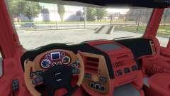De l'intérieur pour DAF-Rouge & Orange pour Euro Truck Simulator 2