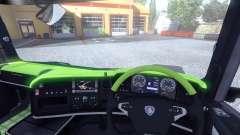 De l'intérieur pour Scania-Acide- pour Euro Truck Simulator 2