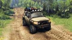 Toyota FJ Cruiser brun pour Spin Tires