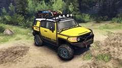 Toyota FJ Cruiser gelb für Spin Tires
