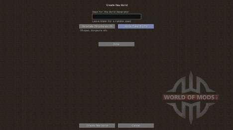 Die alte generation der Welt für Minecraft