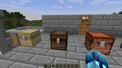 Coffres de différents types de bois pour Minecraft