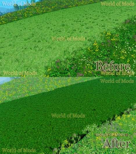 De nouvelles textures de couper l'herbe et au fo pour Farming Simulator 2015