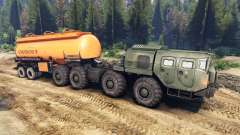 Les remorques sur le MAZ-7310 pour Spin Tires