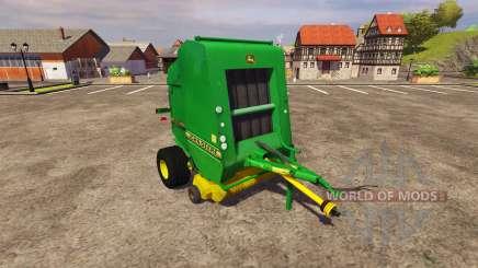 Ballenpresse John Deere 590 v2.0 für Farming Simulator 2013
