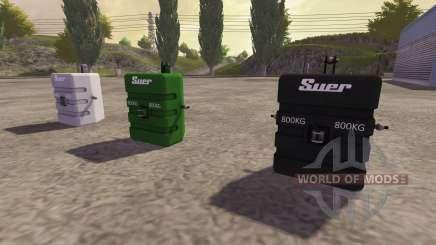 Im Gegensatz zu 800 kg für Farming Simulator 2013