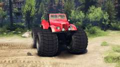 ГАЗ-69М Monstre Rouge pour Spin Tires