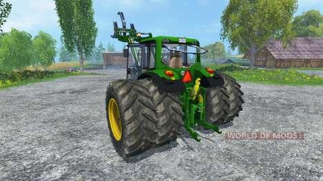 John Deere 6130 2WD FL v2.0 pour Farming Simulator 2015