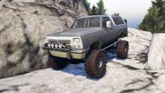 Dodge Ramcharger II 1991 grey and white pour Spin Tires