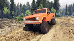 Toyota Hilux Truggy 1981 v1.1 orange pour Spin Tires