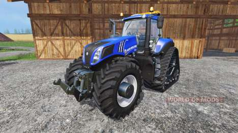 New Holland T8.435 with 200 km-h v1.1 pour Farming Simulator 2015