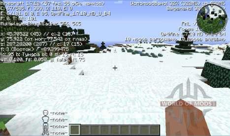 L'amélioration de FPS pour Minecraft