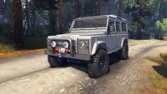 Land Rover Defender 110 silver für Spin Tires