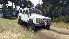 Land Rover Defender 110 white für Spin Tires