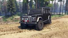 Land Rover Defender 110 black für Spin Tires