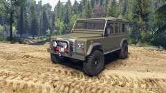 Land Rover Defender 110 flat green für Spin Tires