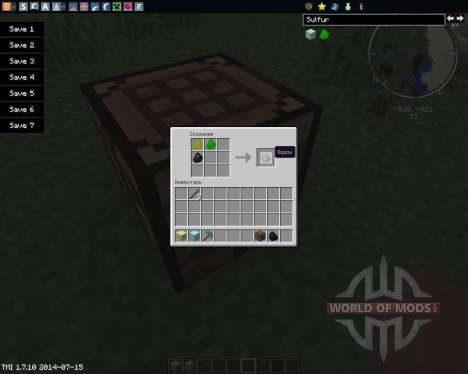Craftable Gunpowder pour Minecraft
