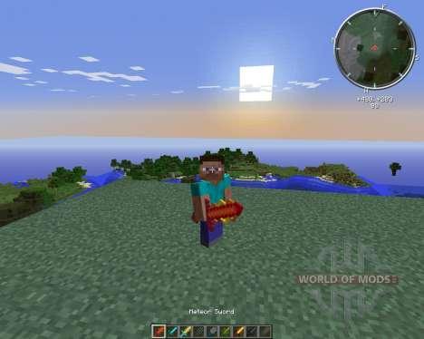 Cyan Warrior Swords für Minecraft