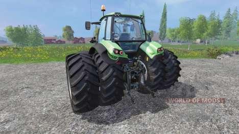 Deutz-Fahr Agrotron 7250 dynamic rear twin wheel pour Farming Simulator 2015