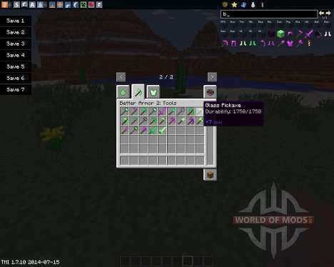 Better Armor 2 für Minecraft
