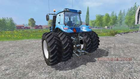 New Holland T8.320 with twin dynamic rear wheels pour Farming Simulator 2015