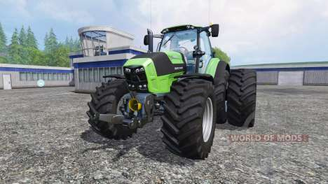 Deutz-Fahr Agrotron 7250 dynamic rear twin wheel für Farming Simulator 2015