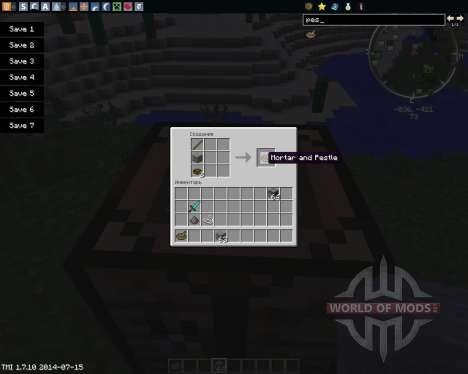 Mortar and Pestle für Minecraft