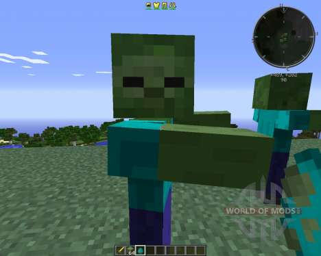 CrackedZombie pour Minecraft