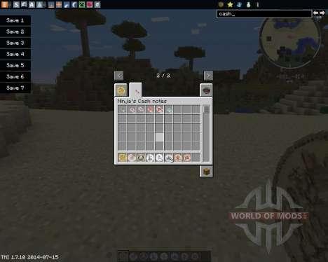 Ninjas Cash pour Minecraft